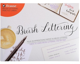 Brause Brush Lettering Practice Pad