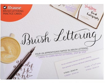 Brause Brush Lettering Practice Pad, Letter Writing Practice Set