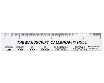 Manuscript Calligraphy Rule (Inches)