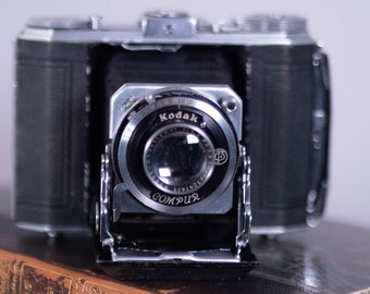 Kodak Duo 620 Vintage Camera, Folding Camera, Compur Shutter, Anastigmat Lens, Bellows Camera