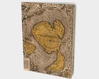 Antique Map of the World Notebook - Large
