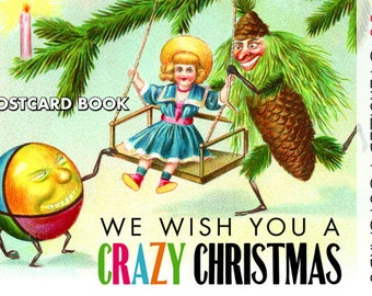 We Wish You A Crazy Christmas - 30 Oversized Postcards