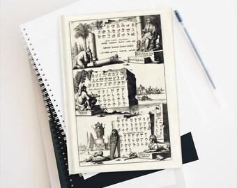 Alchemists Alphabet Antique Typography Journal, Hardcover, Blank Notebook