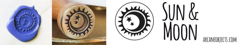 Sun and Moon Wax Seal Stamp