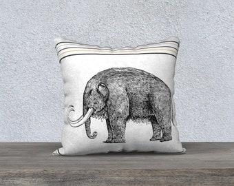 Woolly Mammoth Pillow Case 18 x 18