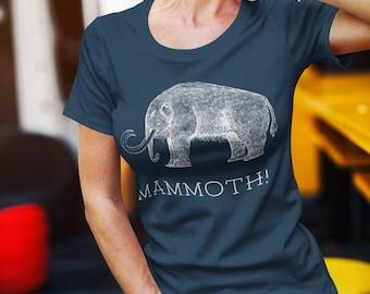 Mammoth! - Women's Relaxed T-Shirt Bella & Canvas 6400, Woolly Mammoth Shirt