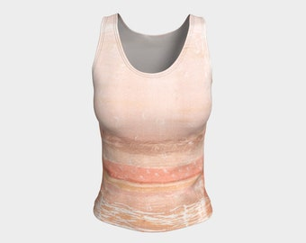 Desert Wash Fitted Tank Top