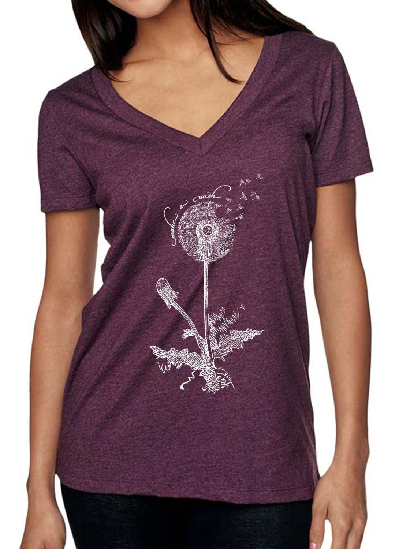 Womens Tshirt Dandelion Shirt Nature Tshirts Nature Etsy