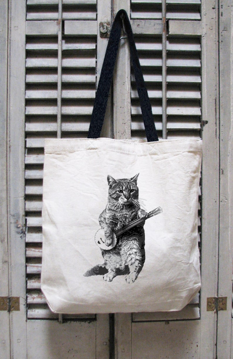 beefa706bd Cat tote cat tote bag tote bag canvas cat lover gift | Etsy
