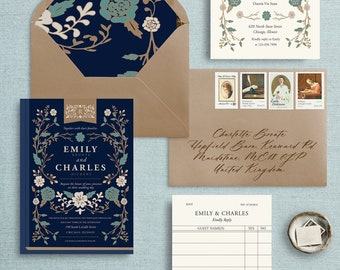 Love In The Library Wedding Invitations, Book Lovers Invitations