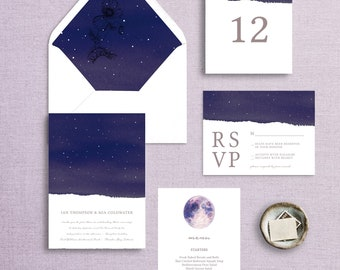 Celestial Wedding Invitation Collection, It Was Written In The Stars Collection