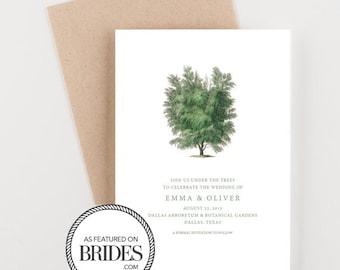Arboretum Botanical Save The Date, Woodland Invitation, as seen in Brides Magazine, Boho Forest Invitation, Wedding Announcement