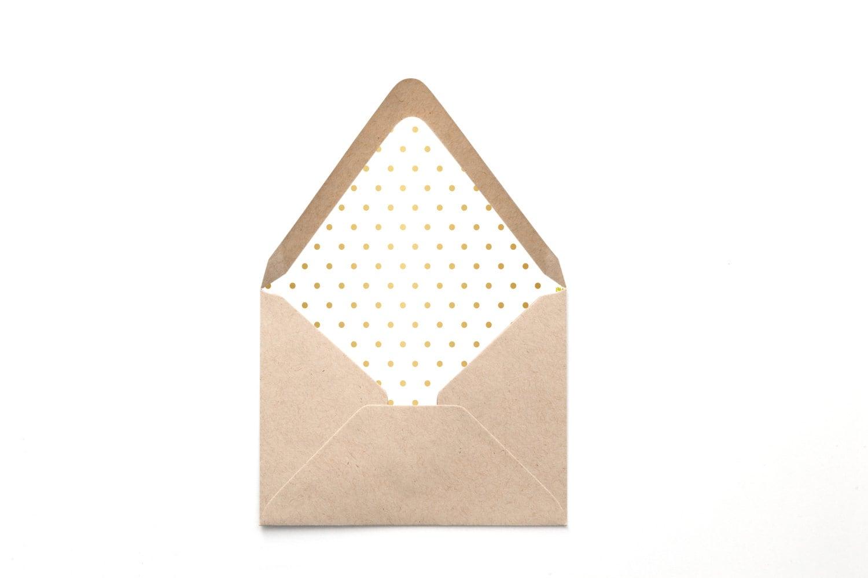 printable custom envelope liner template gold foil polka. Black Bedroom Furniture Sets. Home Design Ideas
