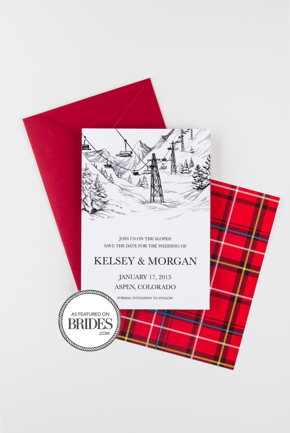 See You On The Slopes Save The Date as seen in Brides | Etsy