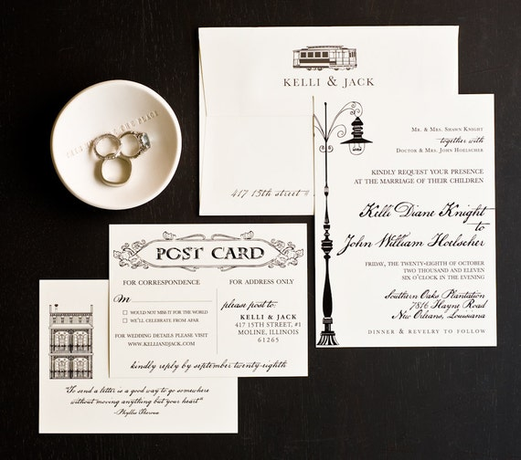 Wedding Invitation New Orleans Love Letter Wedding Etsy