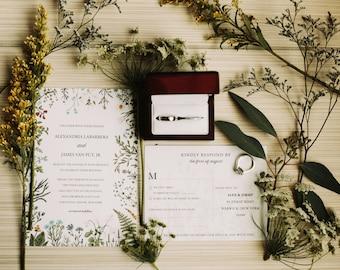 Wildflower Wedding Invitations, Bohemian Wedding Theme, Real Wedding