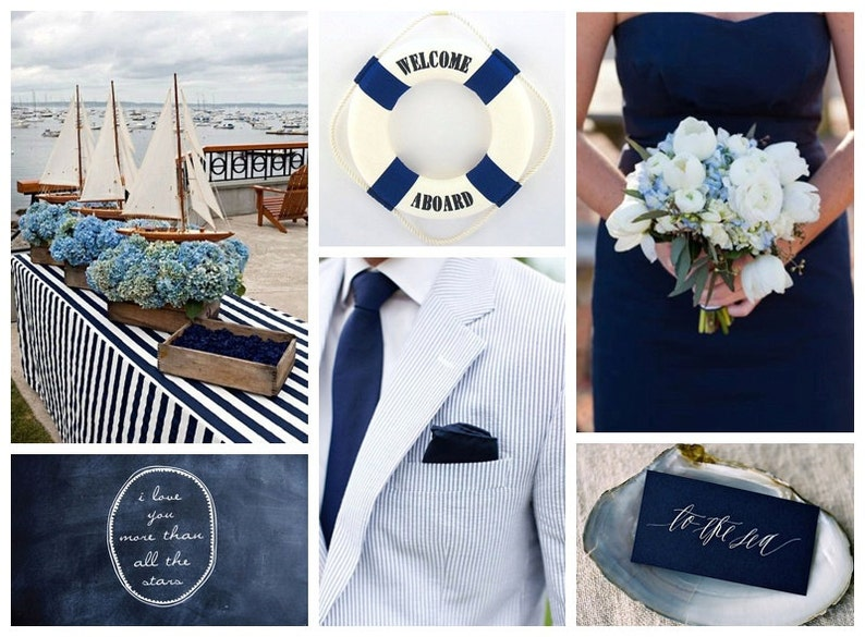 See You On The Seashore Save The Date Wedding Announcement or Bridal Shower