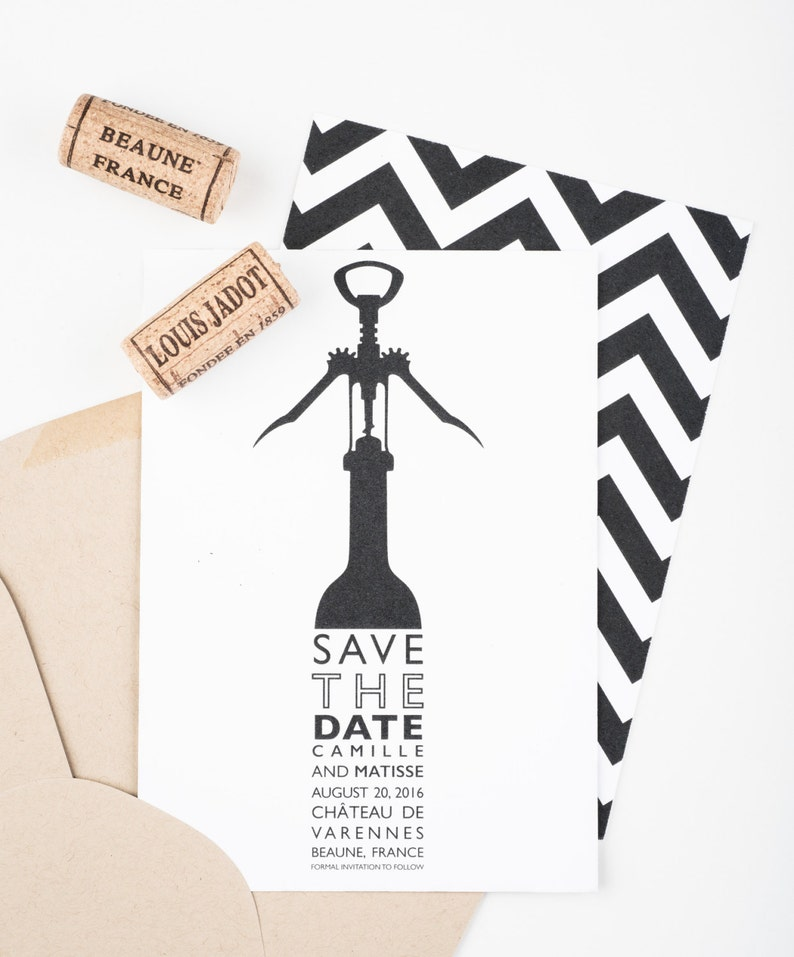 Vineyard Save The Date  Wine Bottle Save The Date  Napa image 0