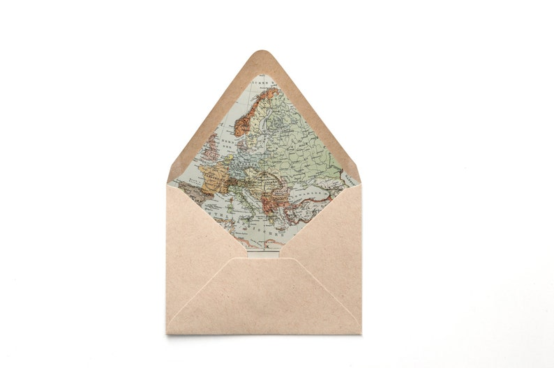 Map Of England Template.Envelope Liner Template Europe Vintage Map England France Etsy