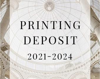Print Deposit for 2021-2023 Wedding Schedule