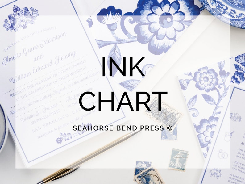 Ink Color Chart Etsy