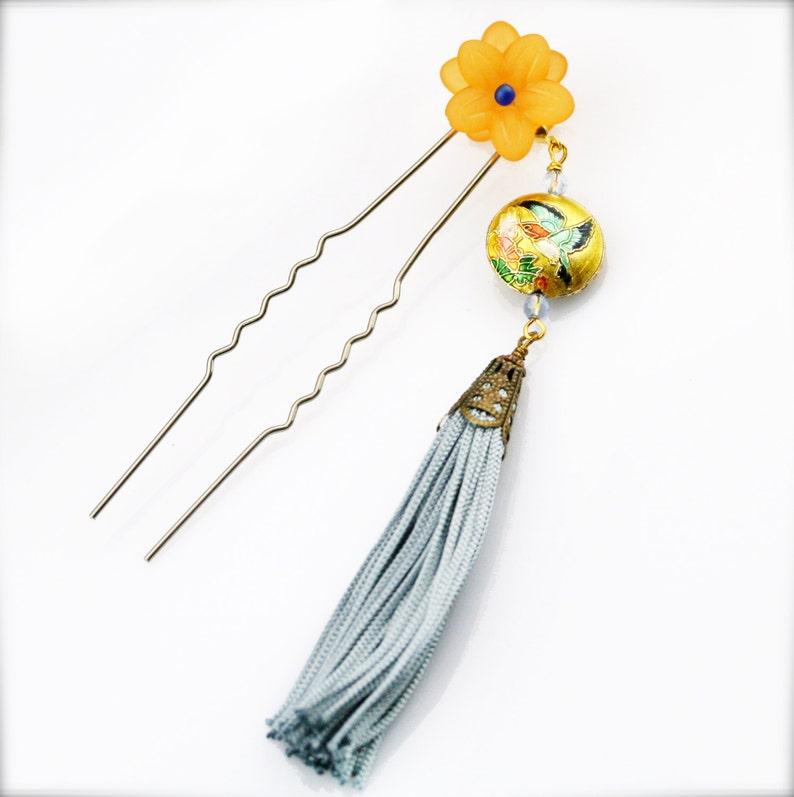 HF Fengque blossom hair fork
