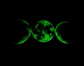 Glow in the Dark Triple Moon Wall Plaque