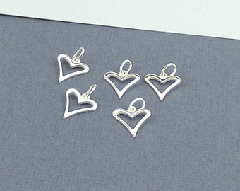 GRAPHICS /& MORE Flower Heart Love Silver Plated Bracelet with Antiqued Charm