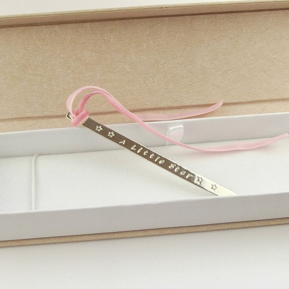 NEW Solid Sterling Silver BOOK MARK Bookmark Long with room with Engraving Boxed