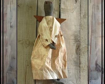 INSTANT DOWNLOAD digital PDF pattern Primitive Folk Art Angel doll sewing pattern 307