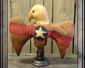 INSTANT DOWNLOAD pdf Primitive folk art Americana eagle make do Digital pattern  396