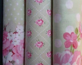 Slipper Roses by Tanya Whelan Shabby Chic Fabric
