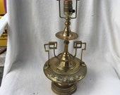 Vintage Art Nouveau Deco Arts and Crafts Silvercrest Brass Lamp