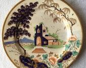 Antique Asian Export Porcelain Imari Chinese Japanese Handpainted Cobalt Plate