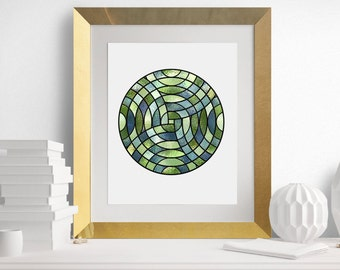 Stained glass art print, printable stained glass, stained glass printable decor, instant digital download