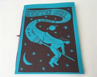 "Vol. 1 Kuntri Gurl Comix ""Comix New & Old"" Zine, self-published mini-comic zine"
