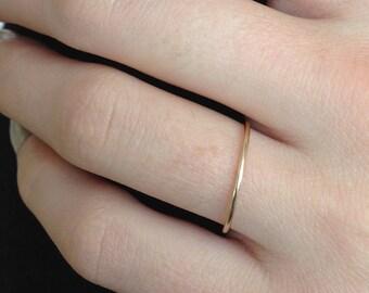 thin Wedding Band, simple wedding band, Solid 14k Gold, womens wedding band, rose yellow white gold, Mila Kunis ring, Ultra thin gold band