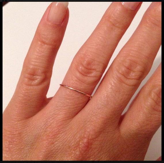 94f63b95c950db Dainty wedding band in Solid 14k Gold Simple wedding ring | Etsy