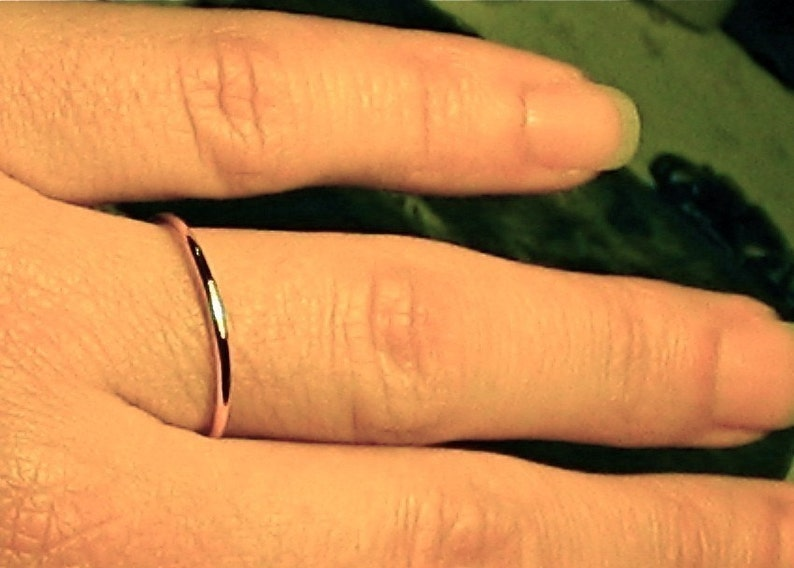 simple womens wedding band solid 14k YELLOW gold Mila kunis ring womens wedding ring Thin Wedding band handmade jewelry 1.3 mm ring