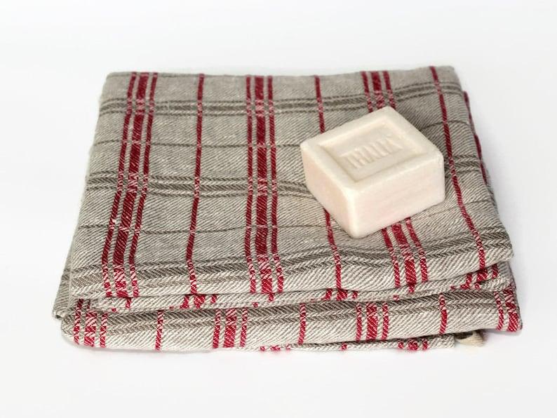 100 Linen Bath Towel Natural Flax Towels Classic Bathroom Etsy