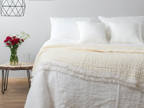 Off White Linen Duvet Cover Soft Flax, Flax Linen Bedding Manufacturers In India