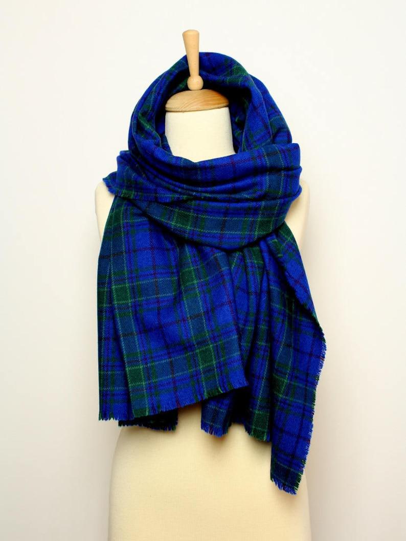 Royal blu lana sciarpa scialle per donne e uomini Grande  208c4d16cdc6