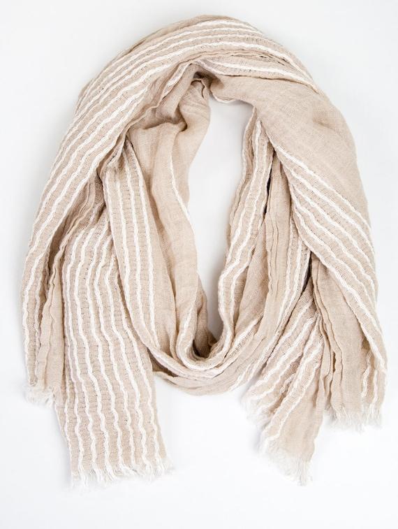 32ad977f748f Écharpe Lin Lin unisexe foulard décontracté pour homme lin   Etsy
