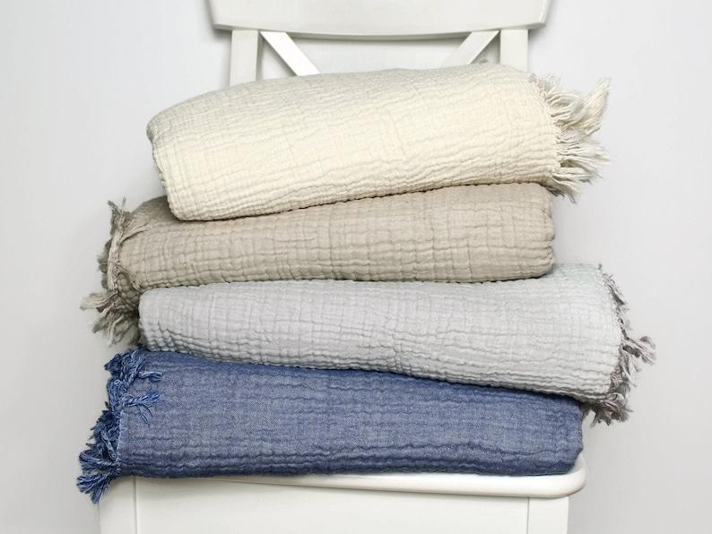 Cotton Gauze Blanket  Adult Double Gauze Queen Blanket  image 0