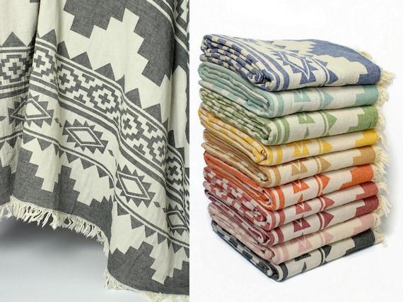 Boho Throw Blankets Fascinating Boho Throw Blanket Aztec Blanket Navajo Throw 60% Etsy