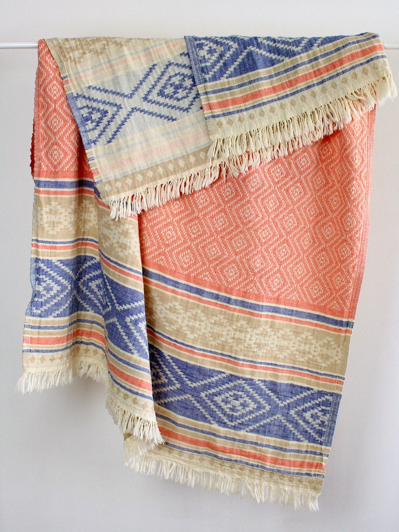 Southwestern Beach Towel Throw Bohemian Picnic Blanket Etsy