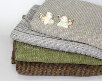 100% Linen Bath Towel | Soft Pure Flax Boho Bathroom Towel | Green Washed Waffle Linen Travel Towel | Natural Organic Kitchen Tea Towels