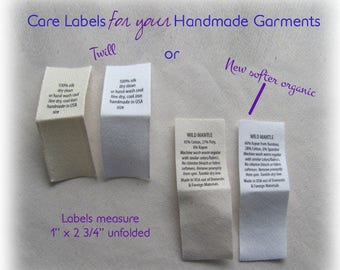 Care Labels Text Only No Graphic Logos