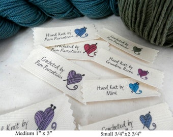 Knitting or Crochet Labels with Yarn Heart