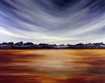Prairie Sky, Surreal Landscape Painting - Photo Print